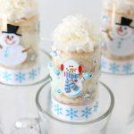 Snowmen Cake Push-Up Pops