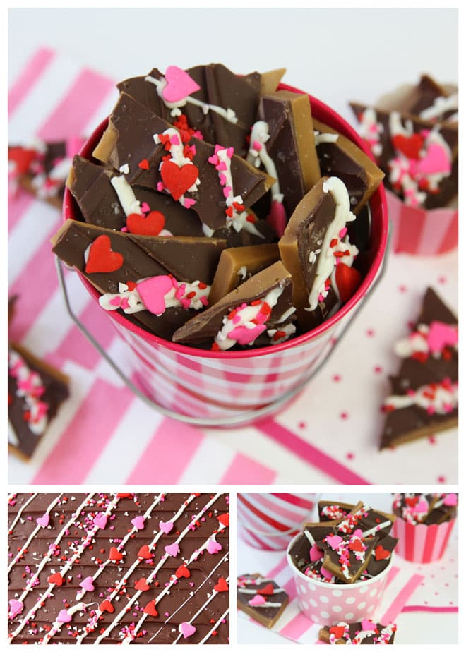 Cute + Easy Valentine's Day Toffee!