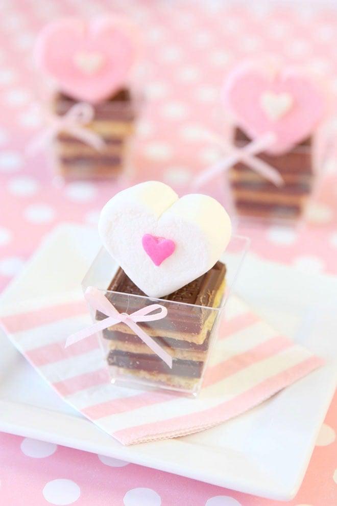 Cute Mini Heart S'more Treats!