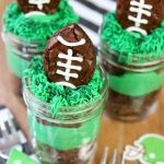 Football Brownies in Mason Jars!