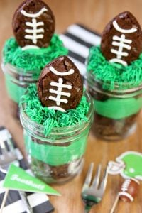 Football Mason Jar Brownie Treats!