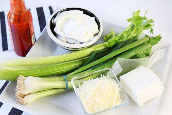 Spicy Parmesan and Onion Dip Ingredients