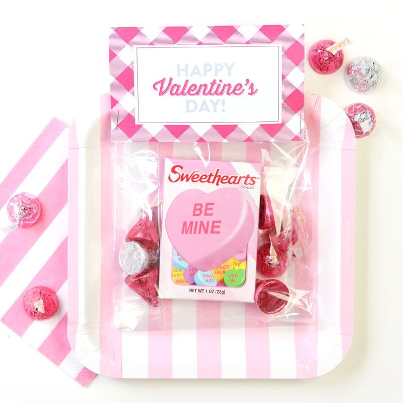 Printable Sweet Heart Valentines Day Bag toppers