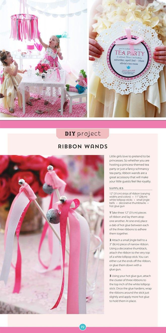 DIY Ribbon Wand Crafts for Tea Parties!