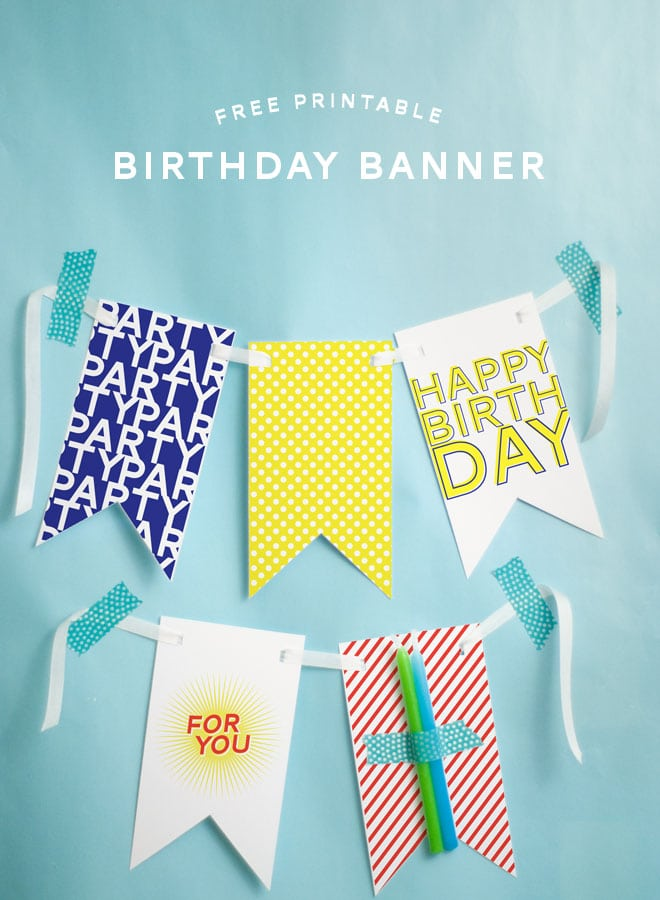 Free Printable Happy Birthday Banner!