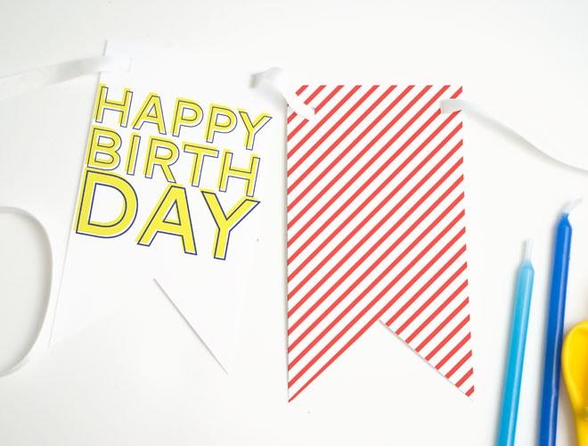 Free Printable Happy Birthday Banner!