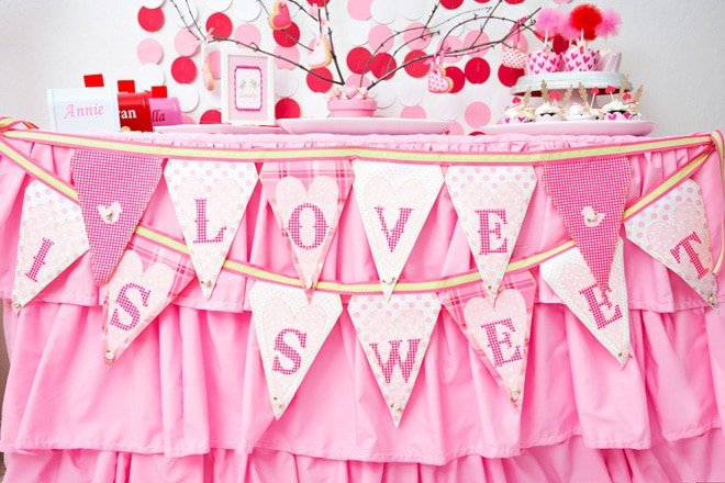 Sweet Pink and Red Valentine's Party   Pizzazzerie