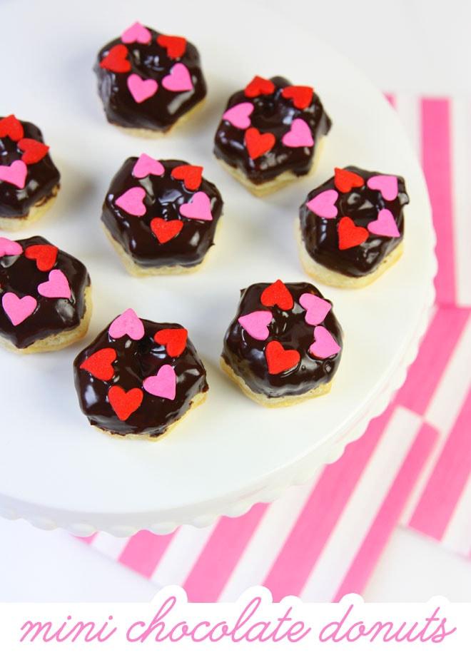 Mini Chocolate Pastry Donuts - taste like mini cronuts!