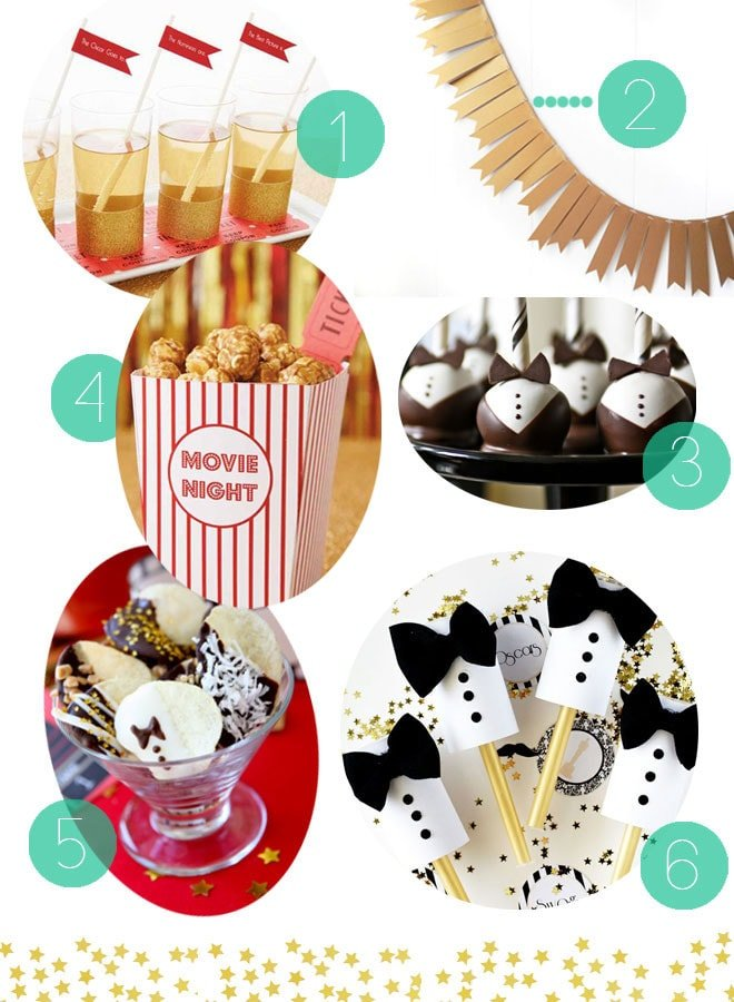 Last minute glitzy award show viewing party ideas!