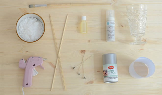 Supplies for DIY Anthropologie Inspired Candles