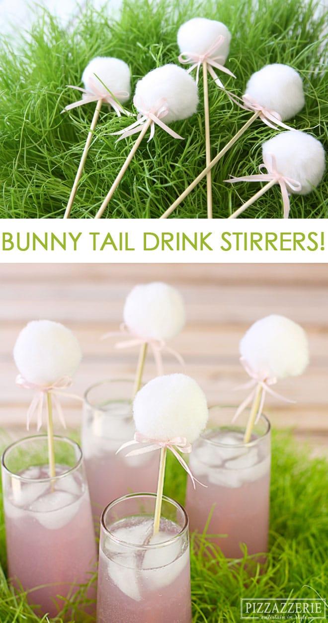 DIY Bunny Drink Stirrers for Easter!