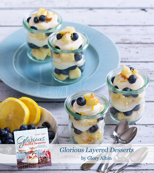 Lemon Blueberry Trifle! SO CUTE!