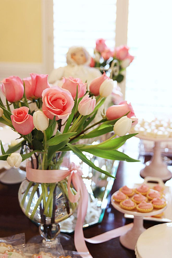My Baby Shower Pink White Amp Roses Pizzazzerie