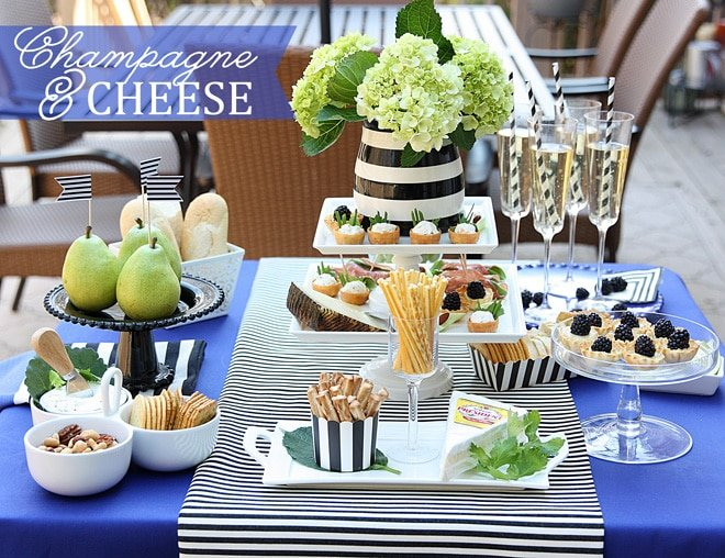 Tips for a Champagne & Cheese Party! from Pizzazzerie.com