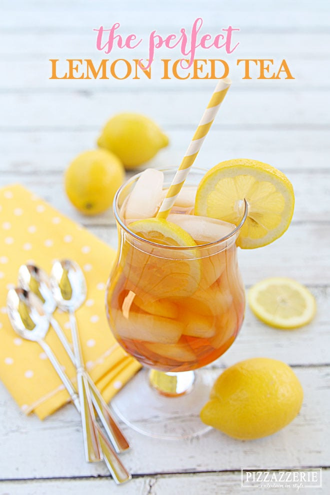 The PERFECT Lemon Iced Tea! Fabulous for summer!