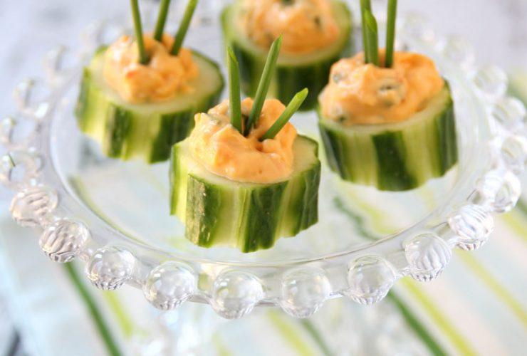 {Recipe} Cucumber Pimento Bites!
