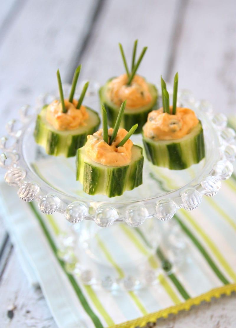 Cucumber Pimento Bites - Delicious Appetizer!