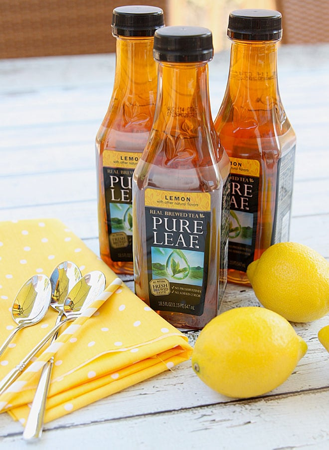 Pure leaf Iced Lemon Tea! SO GOOD!