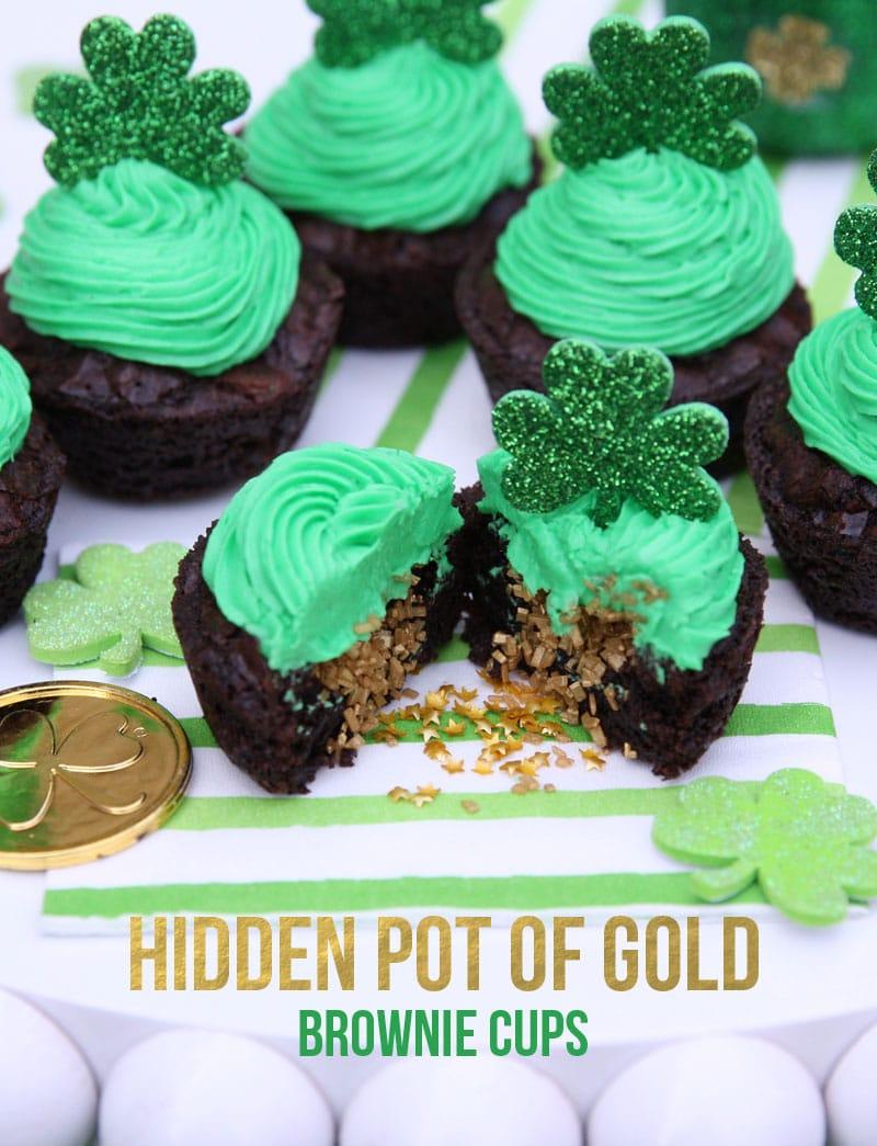 Hidden Pot of Gold Brownie Cups!