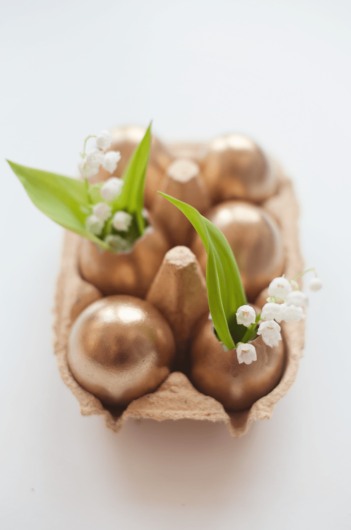 Golden Easter Egg Bud Vase