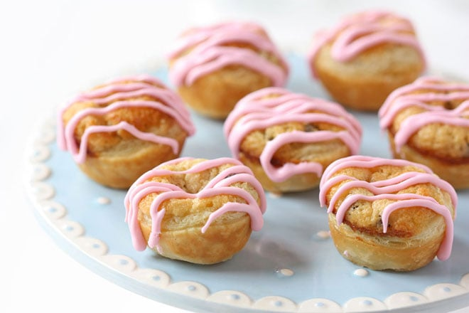 Chocolate Chip Cookie Dough Pastry Puffs
