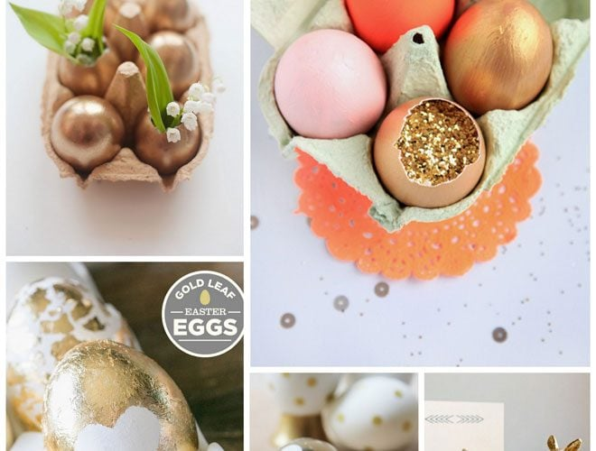 Gold & Glittered Easter Ideas
