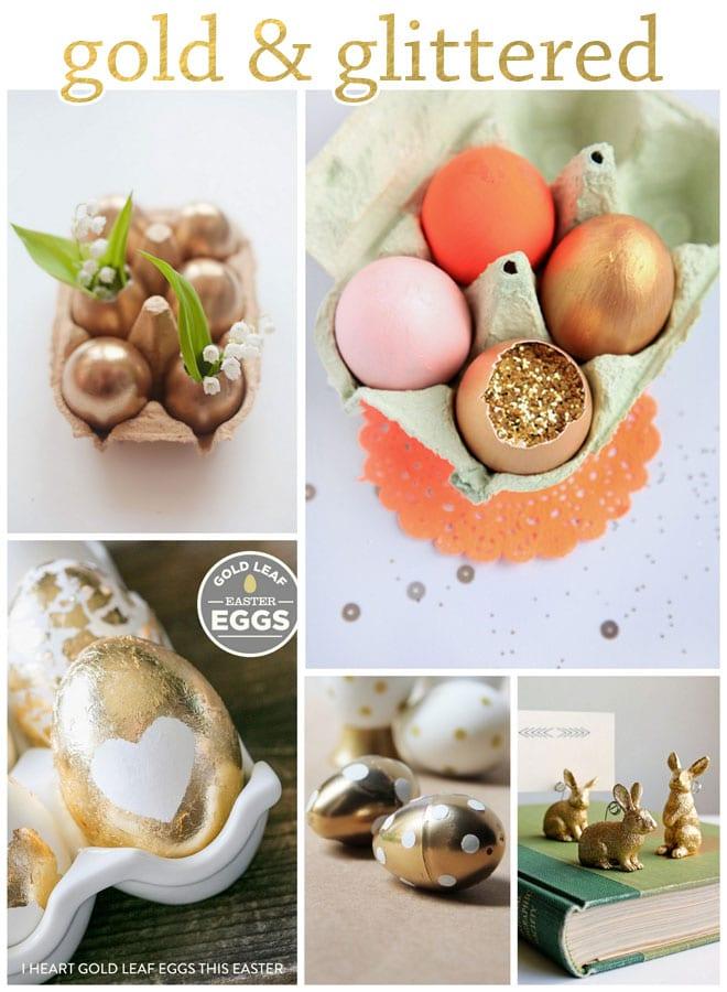 Gold & Glittered Easter Ideas