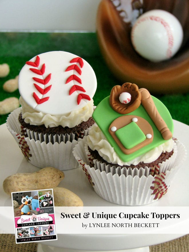 Baseball Themed Fondant Decorations for Cupcakes!