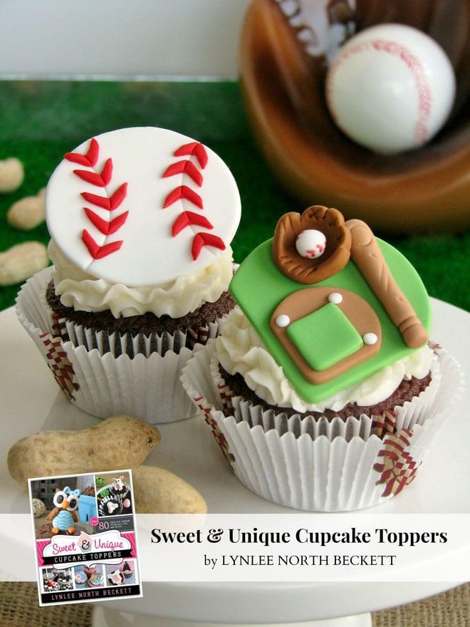Baseball Themed Fondant Decorations for Cupcakes!