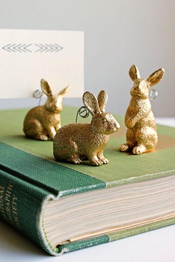 DIY Bunny Placecard Holders!