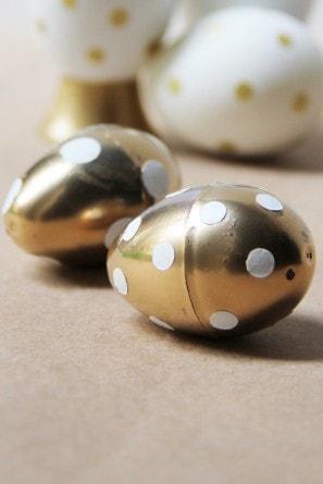 DIY Gold Polka Dot Easter Eggs