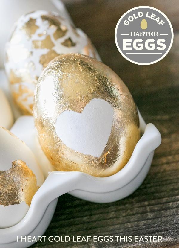 Gold Leaf Easter Eggs