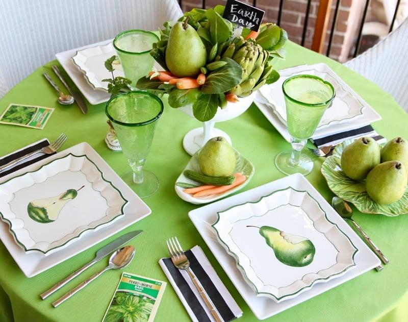 Eco-Friendly Earth Day Tablescape