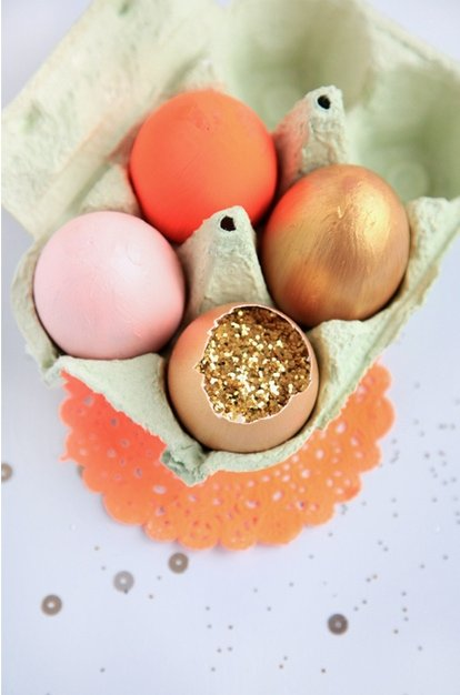 Glitter Filled Easter Eggs!