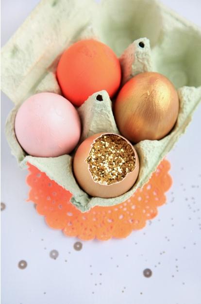 Glitter Filled Easter Eggs!