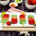 Layered Margarita Popsicle - perfect for Cinco de Mayo!