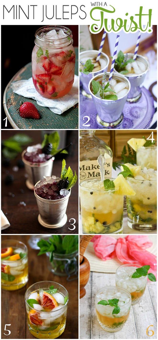 6 Mint Julep Recipes with a TWIST!