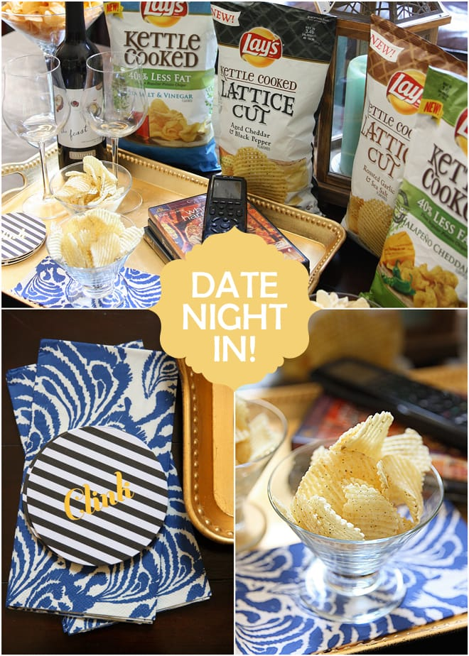 Date Night in with Lays Potato Chips #LaysKettleCooked