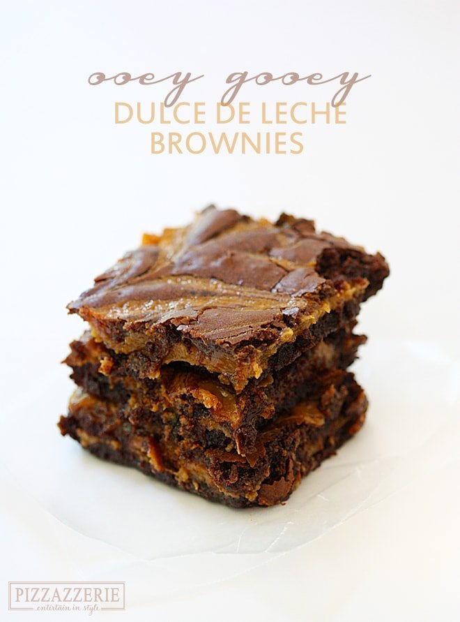 Totally decadent! Dulce de Leche Brownies #Pizzazzerie