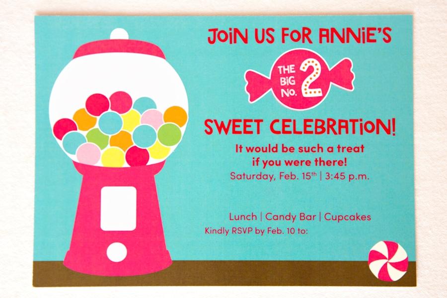 Sweet Shoppe Birthday Party Invite