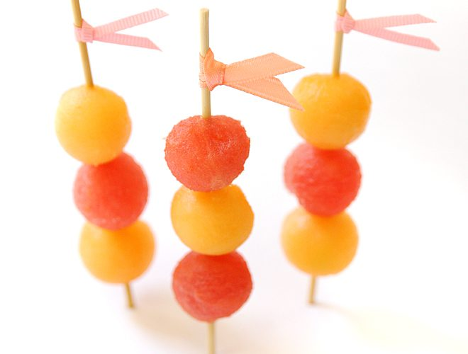 How to Make Easy + Colorful Melon Skewers!