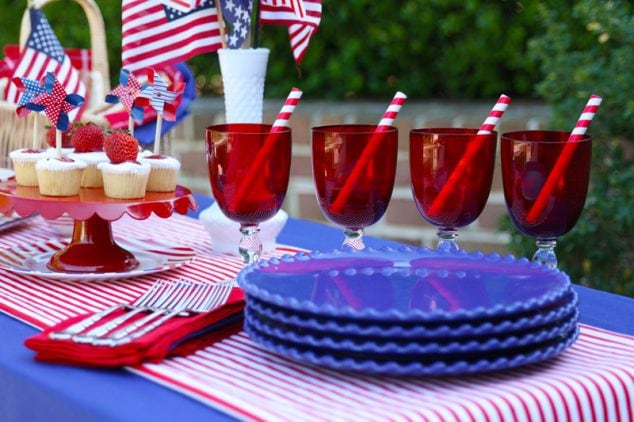 Red white blue memorial day party ideas pizzazzerie - Blue day celebration ideas ...