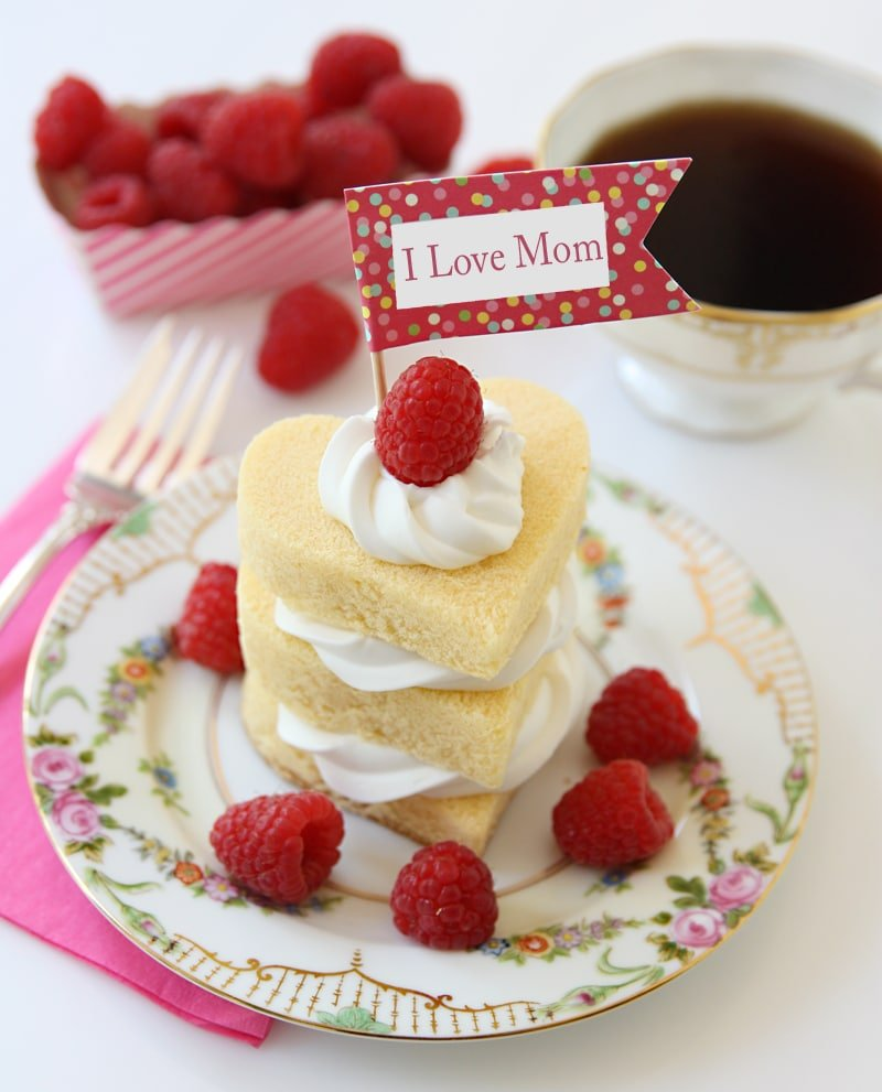 Mother's Day Raspberry Shortcakes