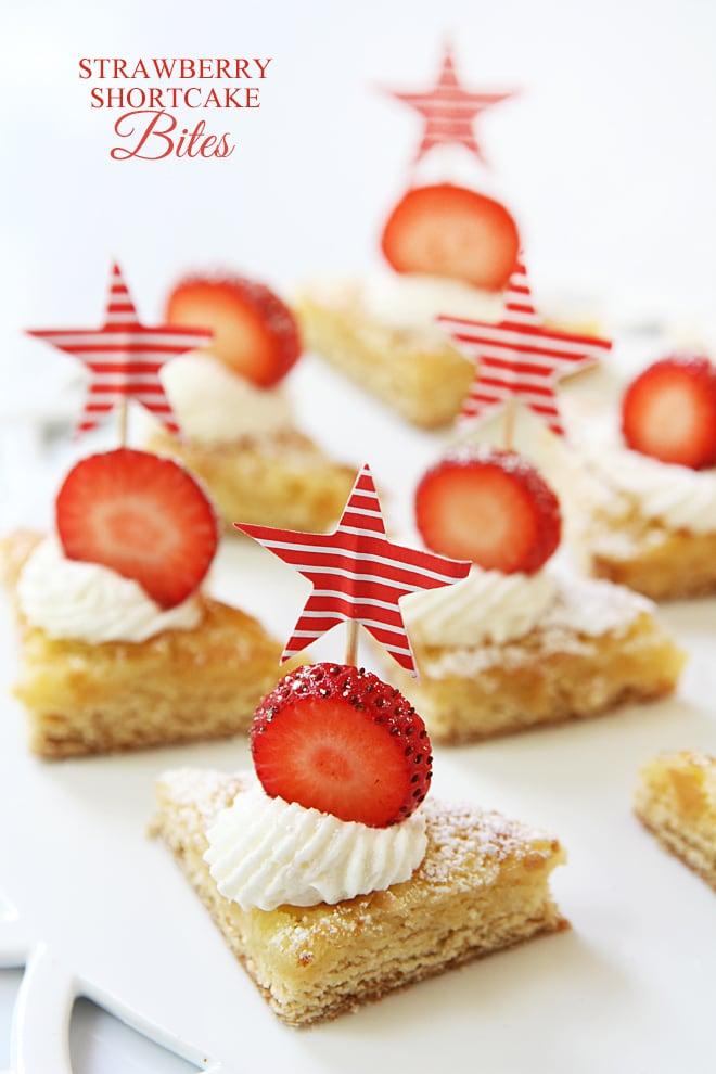 Mini Strawberry Shortcake Bites! Easy and addictively delicious!!