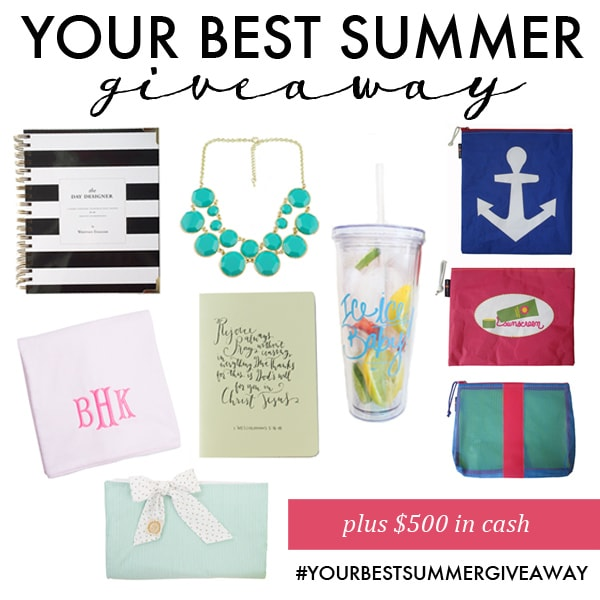 {Giveaway} $500 Cash & Items For Your Best Summer Yet!