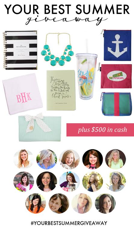 Enter to win $500 cash & items for your best summer ever!