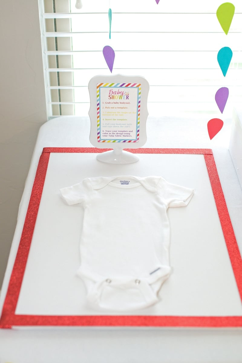 decorate onesies for baby shower craft idea
