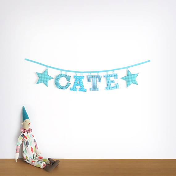 Adorable Fabric Name Garland!