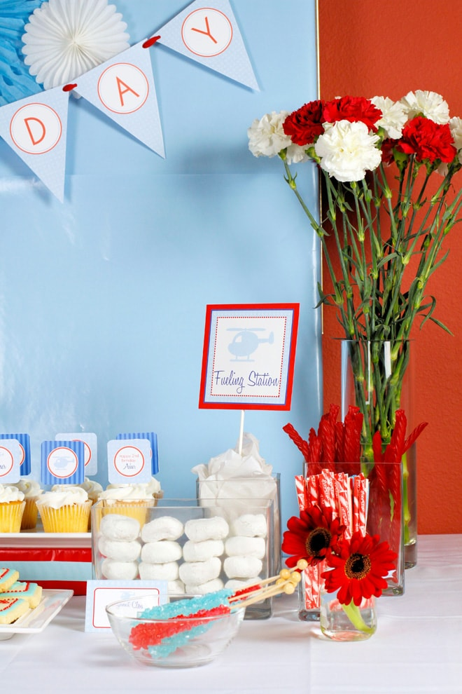 Adorable Helicopter themed 2nd Birthday Party! LOVE the details + embellishments!