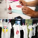 Decorate Onesies Station at Baby Shower!